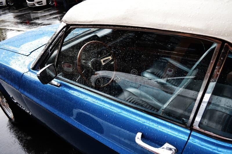 老葡萄酒美国肌肉汽车 库存照片