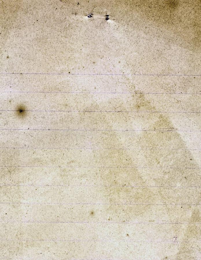 老葡萄酒被排行的纸 免版税库存照片