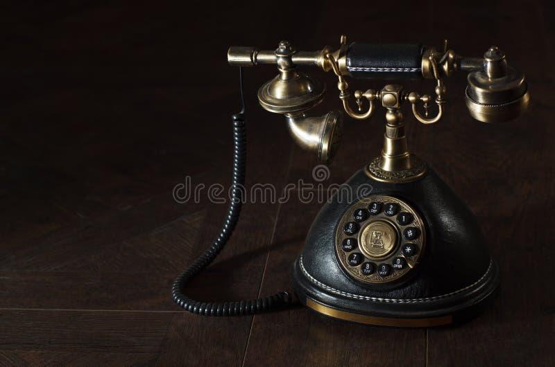 老葡萄酒转台式电话 免版税图库摄影
