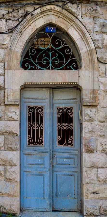 老葡萄酒门在耶路撒冷 库存图片