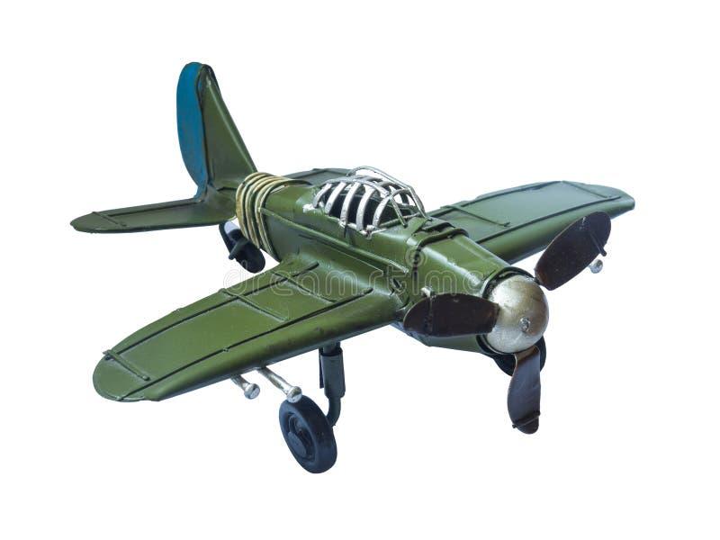 老葡萄酒飞机玩具 库存照片