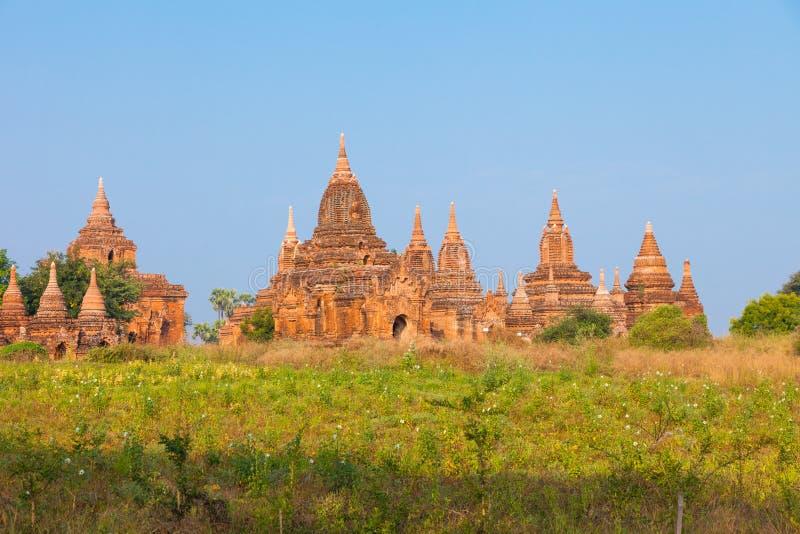 老蒲甘考古学区域,缅甸 免版税库存照片
