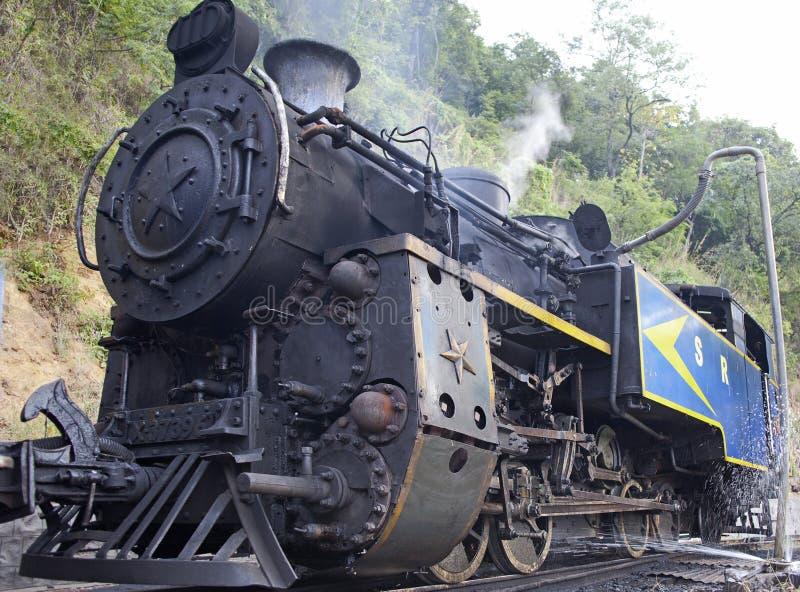 老蒸汽引擎 免版税库存照片