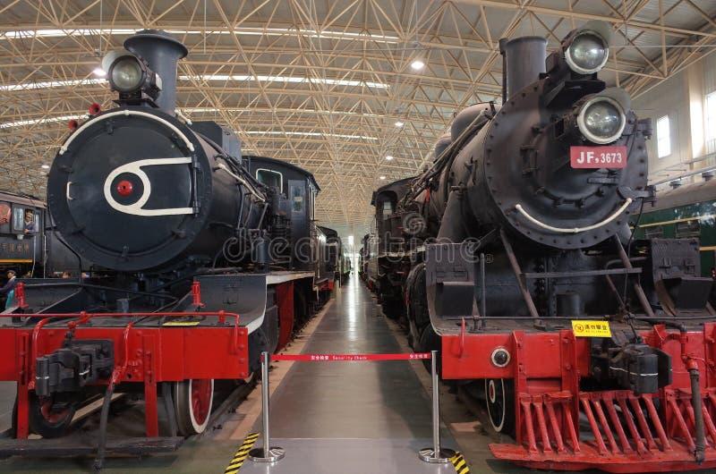 老蒸汽机车在上个世纪 免版税图库摄影