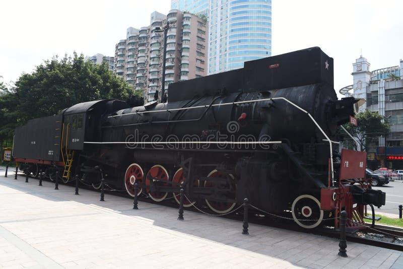 老蒸汽机车,乡愁,有很多年龄 库存照片
