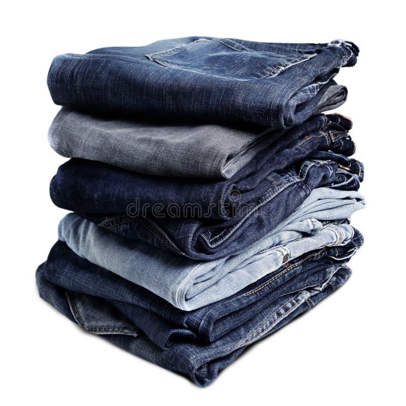 老蓝色牛仔裤 免版税库存图片