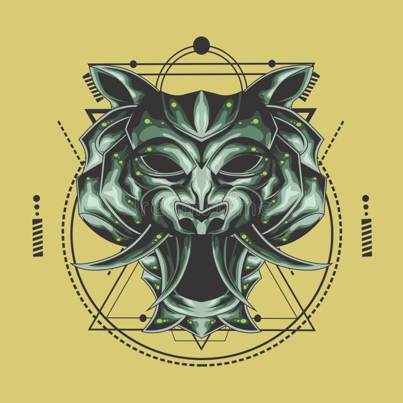 老虎头神圣的几何 皇族释放例证