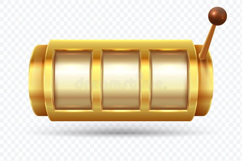 老虎机 困境啤牌777金黄老虎机 赌博的金子得奖的时运传染媒介概念 库存例证