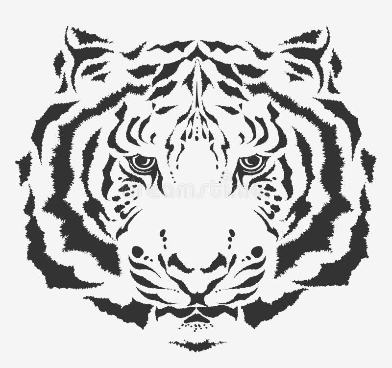 老虎白色 向量例证