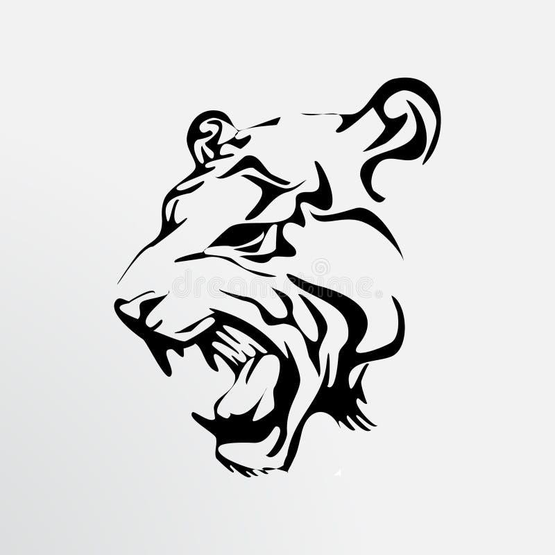 老虎的纹身花刺 免版税库存照片