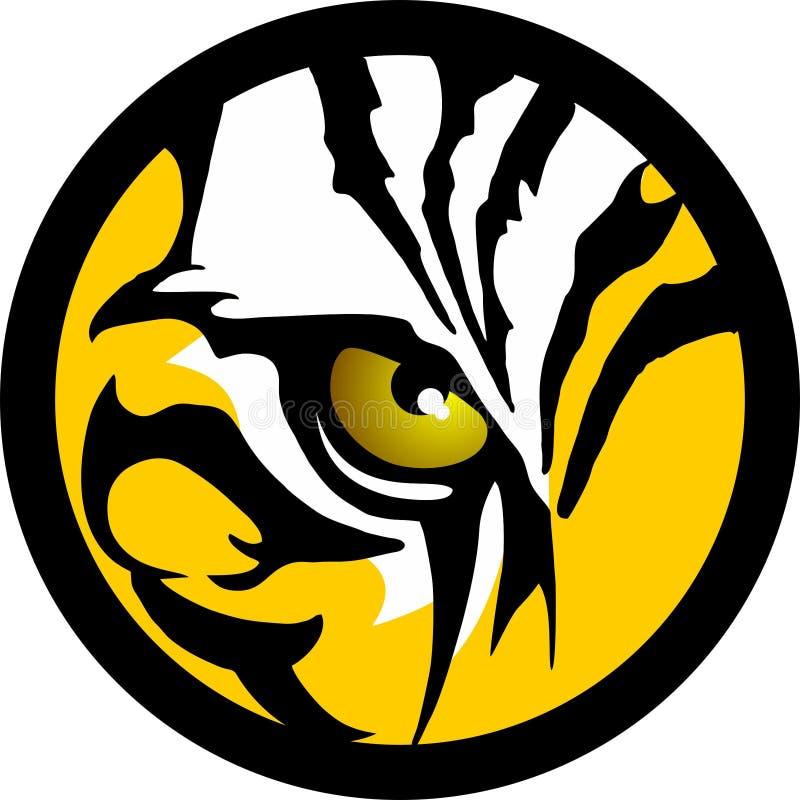 老虎眼睛 皇族释放例证