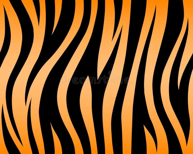 老虎纹理摘要背景橙黄色黑色 传染媒介密林条纹非洲徒步旅行队重复了无缝 库存例证