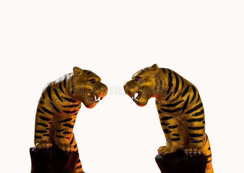 老虎雕象 库存照片