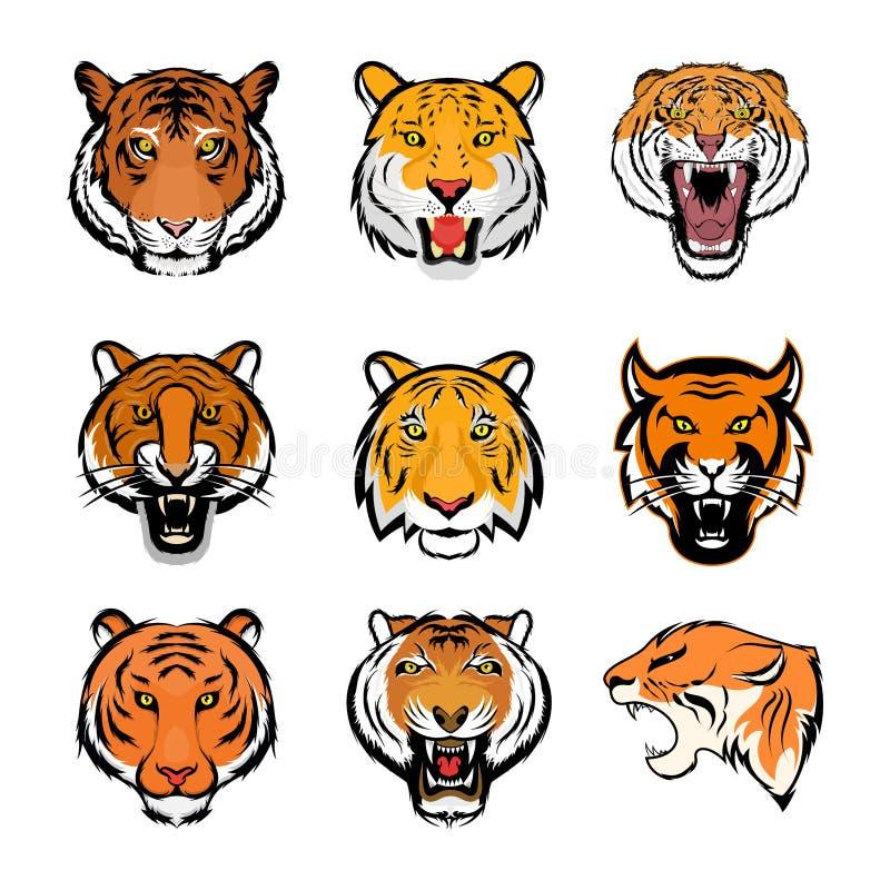 老虎面孔传染媒介象 向量例证