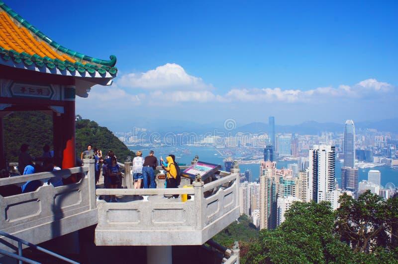 从老虎pavillion的香港视图 图库摄影