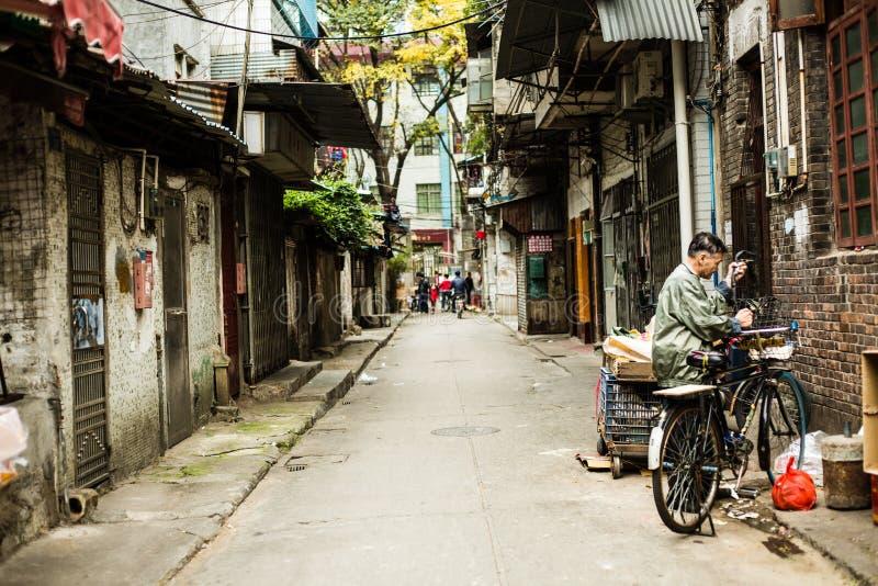 老街道在广州中国 库存图片