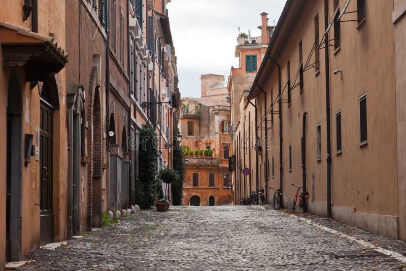 老街道在罗马,意大利 免版税库存图片