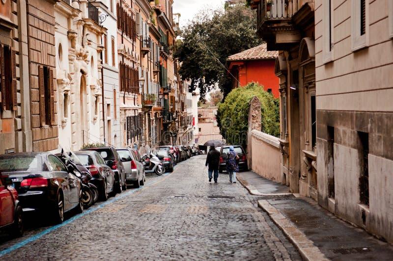老街道在罗马,意大利 免版税库存照片
