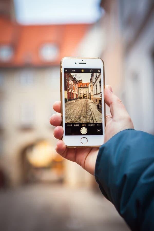 老街道在里加,拉脱维亚 免版税图库摄影