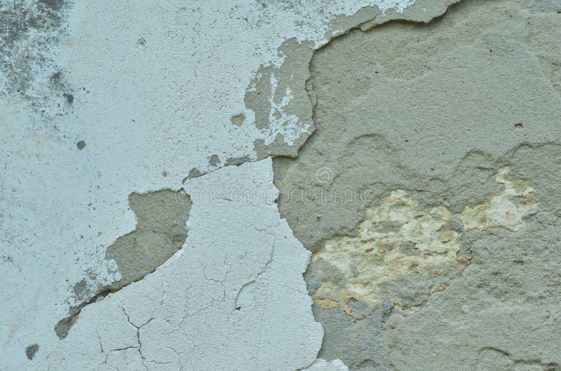 老街道墙壁,纹理,变老了油漆和水泥 库存图片