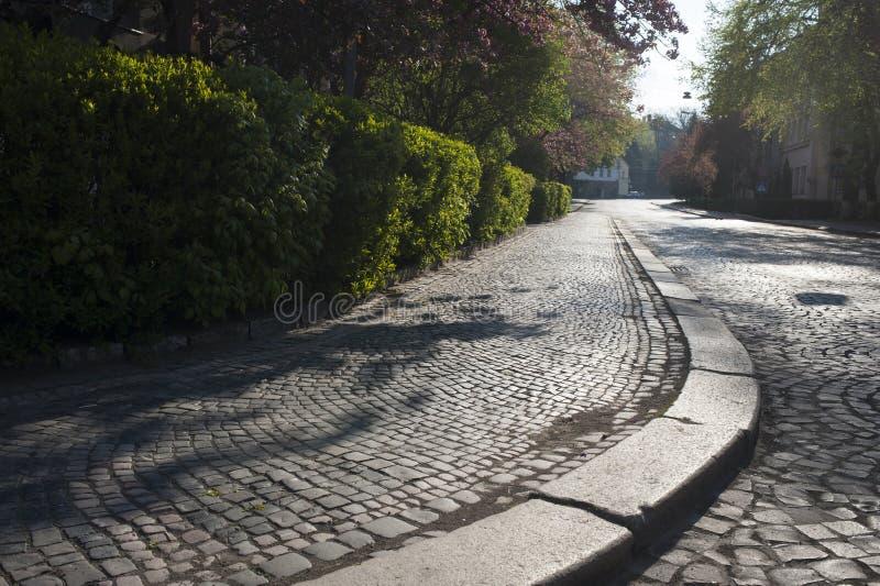 老街道的路面 免版税库存照片
