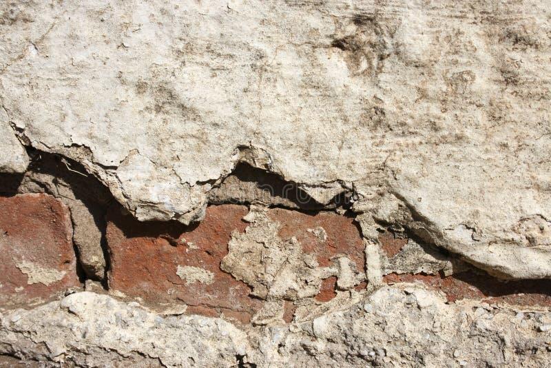 老被中断的墙壁 免版税库存照片
