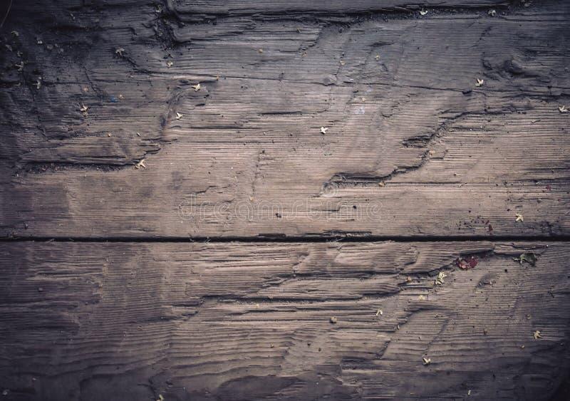 老被定调子的葡萄酒黑暗的木质感粗糙的板过时背景蓝色 免版税库存图片