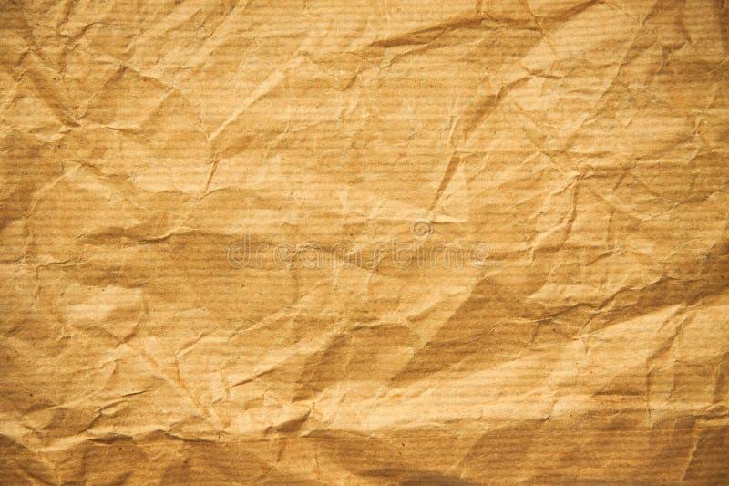 老被弄皱的纸张 图库摄影
