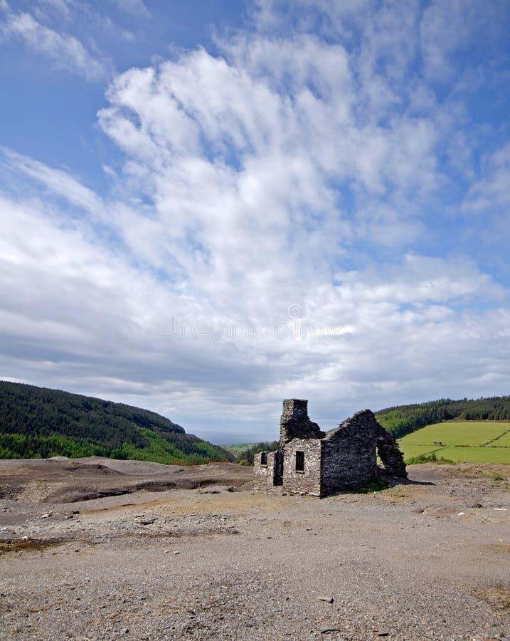 老被抛弃的被破坏的矿工的村庄 库存图片