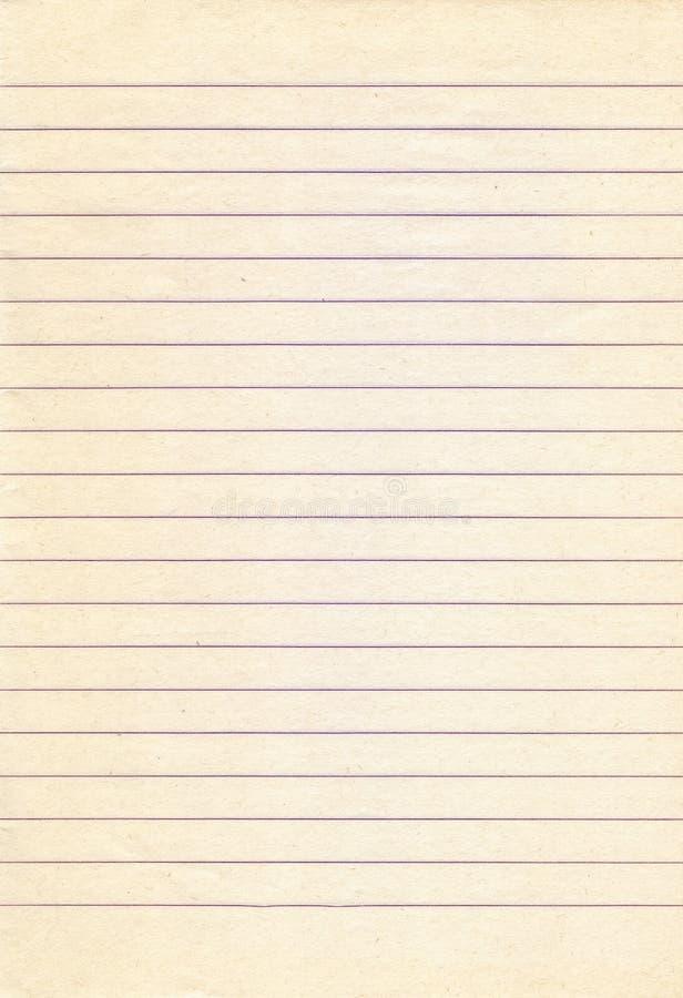 老被排行的笔记本纸背景 免版税库存图片