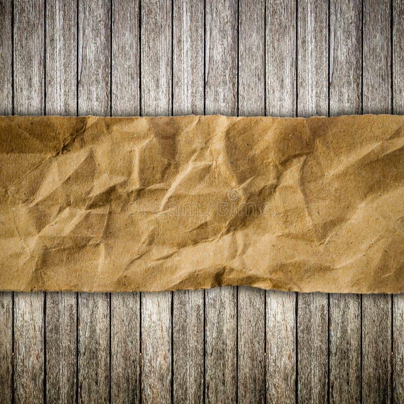 老被撕毁的木头和纸 库存照片