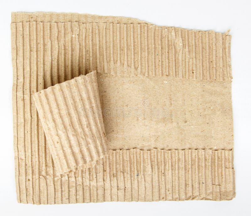 老被撕毁的纸板纸 免版税库存照片