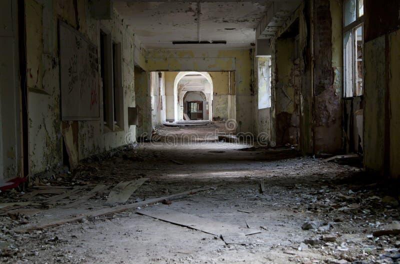 老被放弃的医院 库存照片