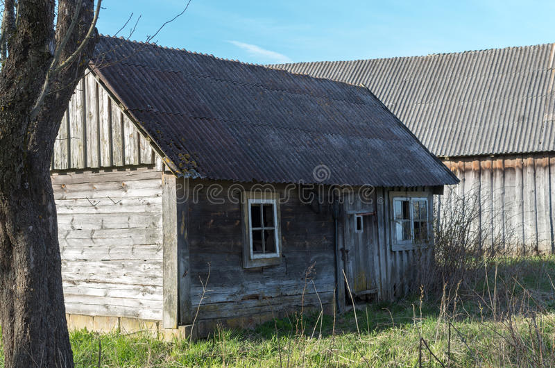 老被放弃的房子 库存图片