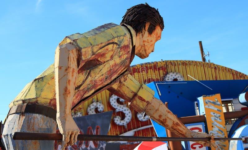 老被放弃的霓虹赌博娱乐场标志,拉斯维加斯 免版税库存照片