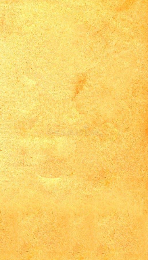 老被染黄的纸纹理  库存照片