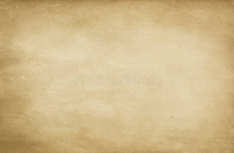 老被染黄的纸纹理 库存例证