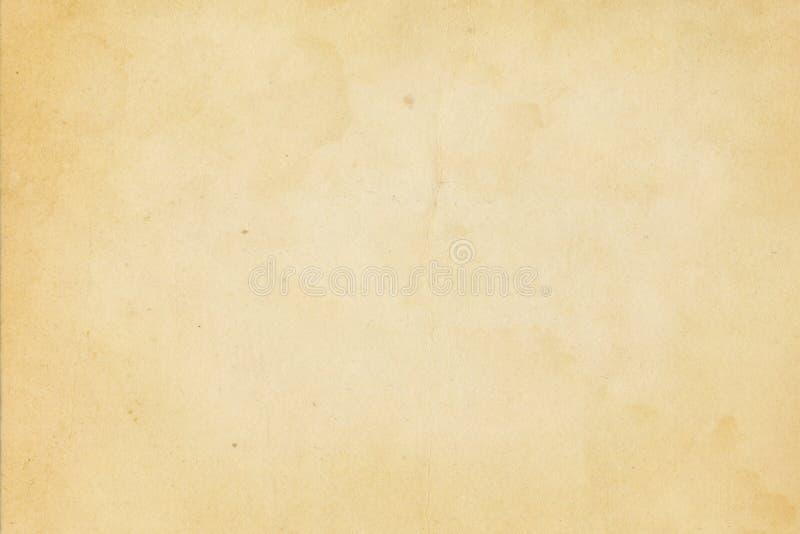 老被染黄的纸纹理 向量例证