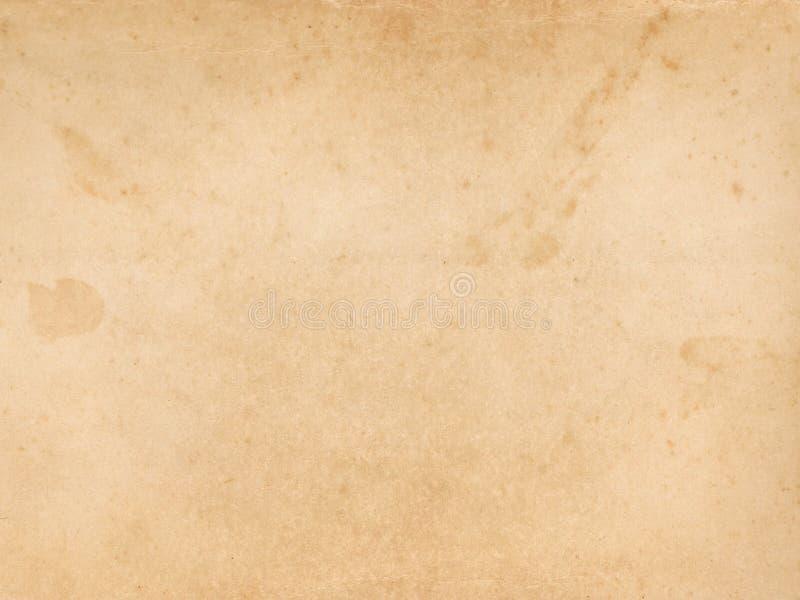 老被染黄的纸纹理 库存图片