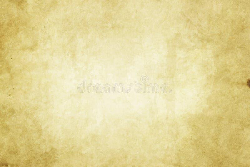 老被染黄的纸纹理 免版税库存照片