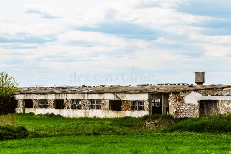 老被毁坏的农业大厦 库存照片
