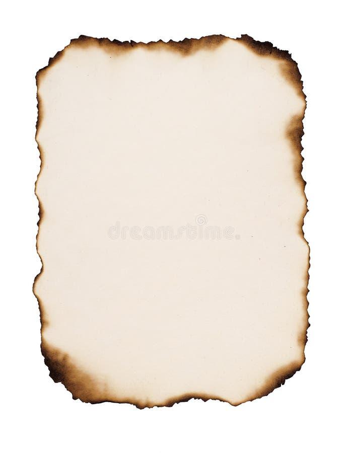 老被烧的纸 免版税图库摄影