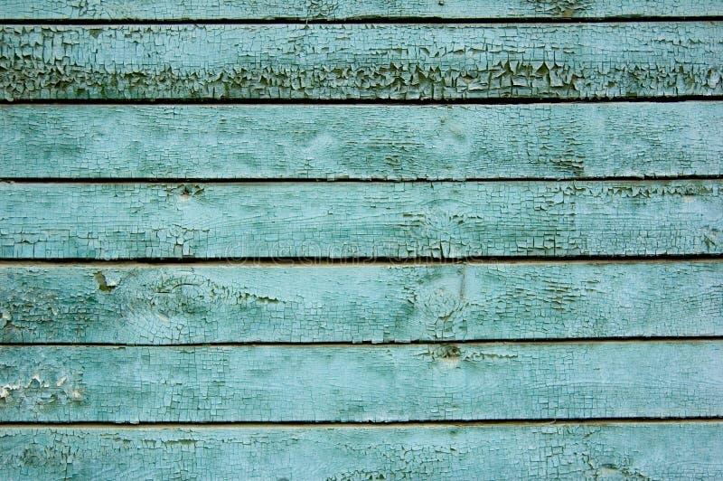 老被绘的木头 免版税库存照片