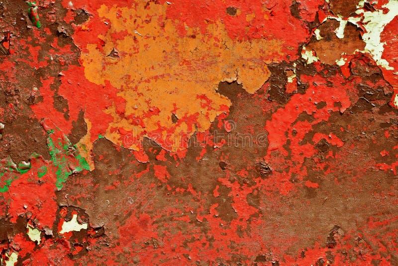 老被绘的表面的模式 免版税库存照片