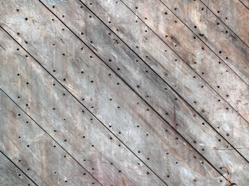 老被钉牢的木委员会 免版税库存照片