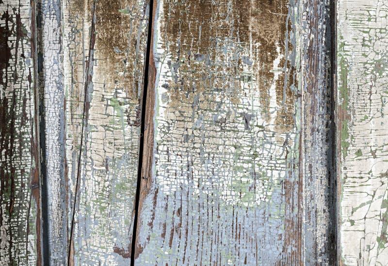 老被绘的困厄的木背景 免版税库存图片