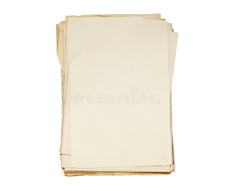 老装箱纸张 库存图片