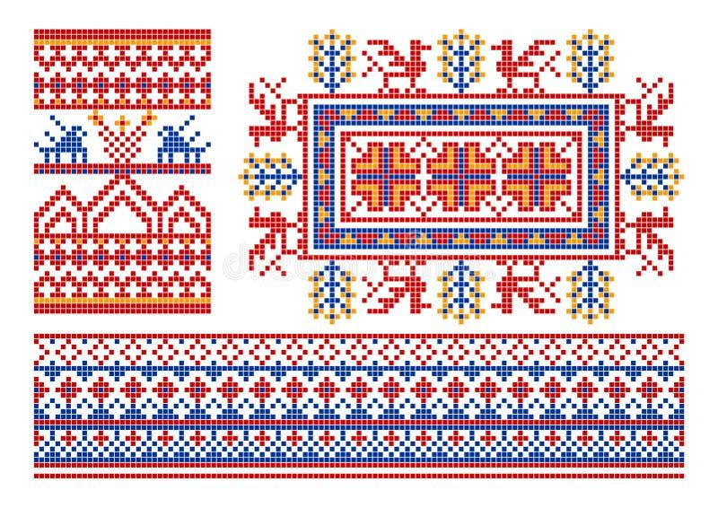 老装饰品俄语 向量例证