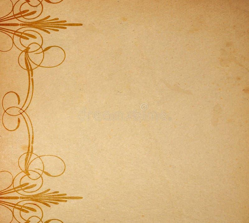老装饰品纸张 免版税库存照片