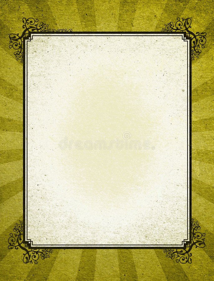 老装饰方式框架 免版税库存照片